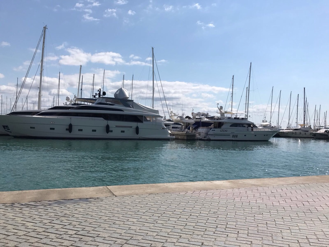 Palma Yachthafen – direkt Paseo Marítimo – erste Linie – Top Apartment